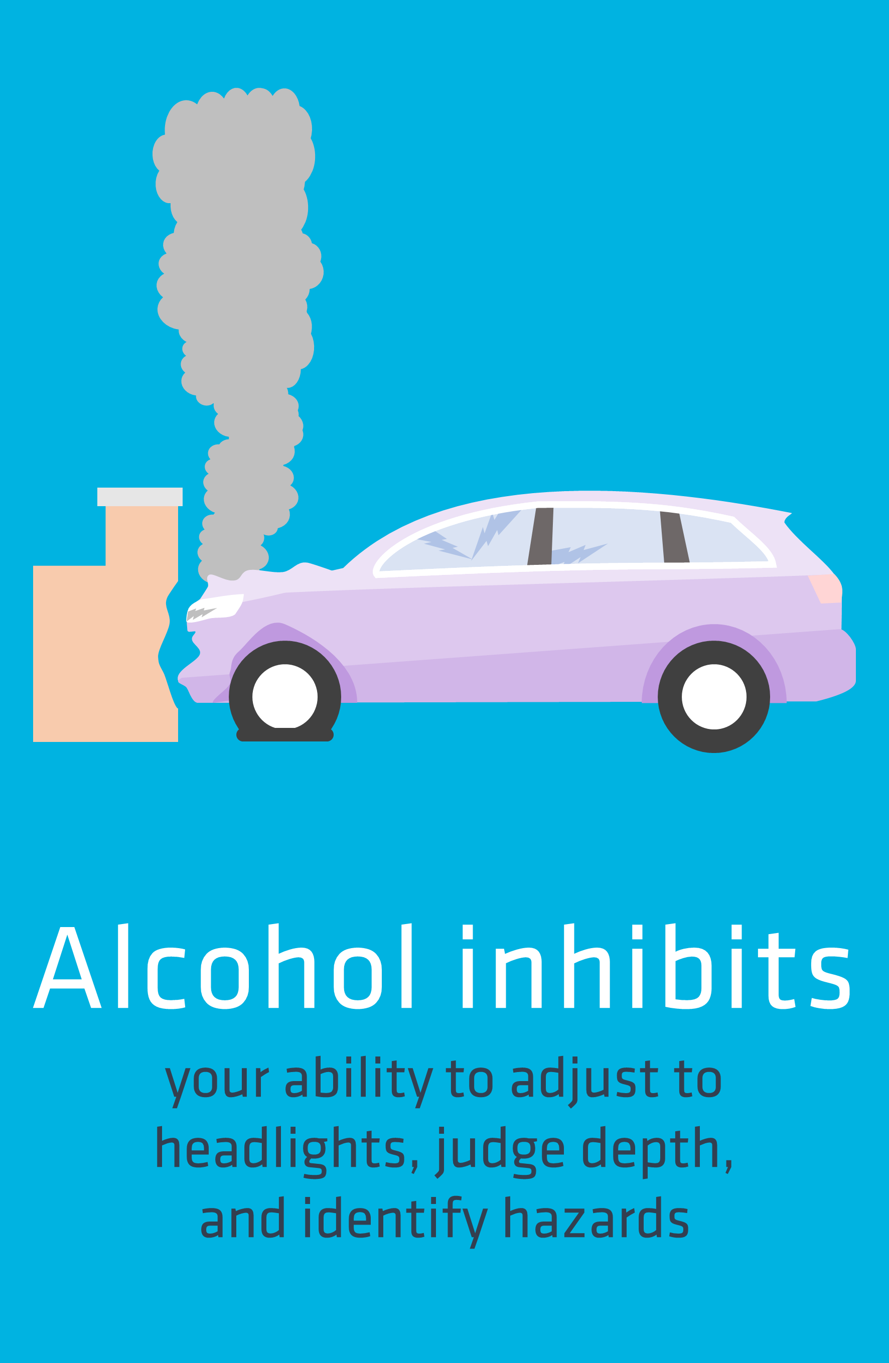Alcohol inhibits
