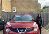 Sarah and car