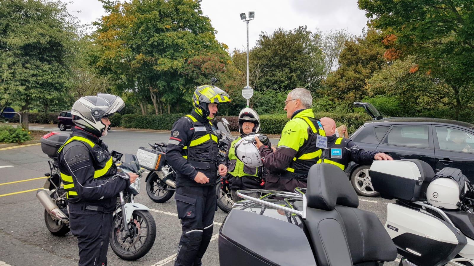 Motorcycle meet with IAM RoadSmart