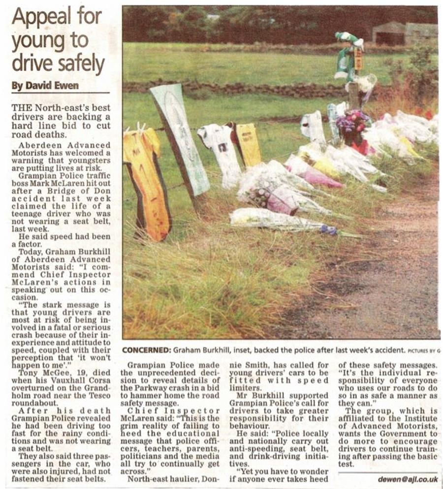 Burkhill Young driver appeal