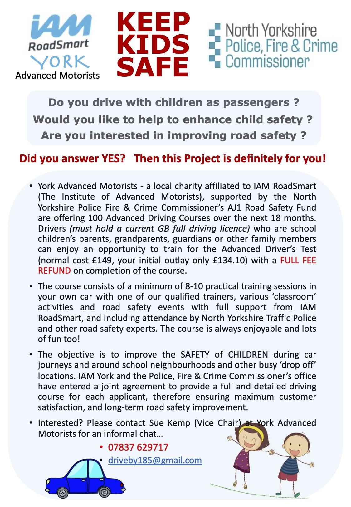 KEEP KIDS SAFE - starts Sept 2021
