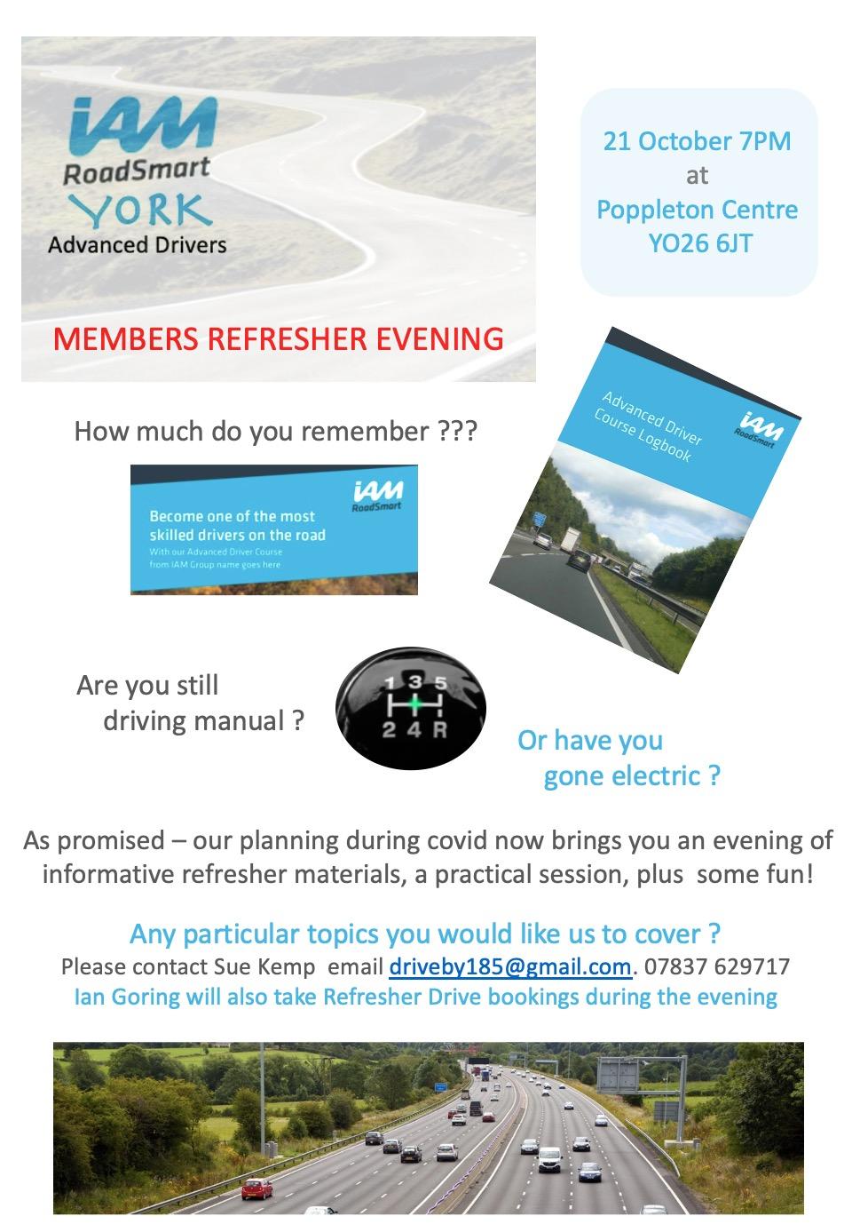 Member Refresher Eve Flyer